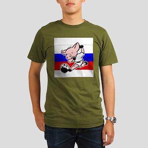 russia-soccer-pig Organic Men's T-Shirt (dark)