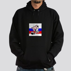 russia-soccer-pig Hoodie (dark)