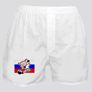 russia-soccer-pig Boxer Shorts