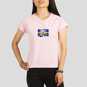 sweden-soccer-pig Performance Dry T-Shirt