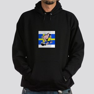 sweden-soccer-pig Hoodie (dark)