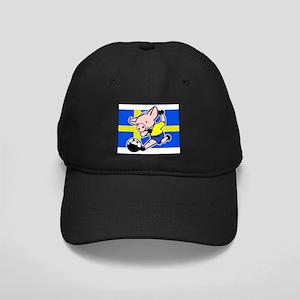 sweden-soccer-pig Black Cap with Patch