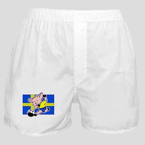 sweden-soccer-pig Boxer Shorts