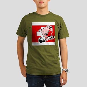 switzerland-soccer-pig Organic Men's T-Shirt (dark