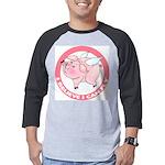 FIN-cute-flying-pig-TRANS Mens Baseball Tee