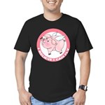 FIN-cute-flying-pig-TRANS Men's Fitted T-Shirt (da