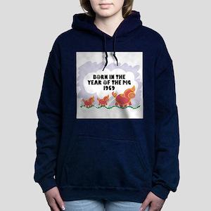 born-year-pig-1959 Women's Hooded Sweatshirt
