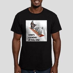 FIN-goats-you-kid Men's Fitted T-Shirt (dark)