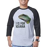 I Is for Iguana Mens Baseball Tee