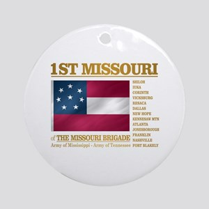 1st Missouri Infantry Round Ornament