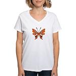 'Butterfly Tattoos Women's V-Neck T-Shirt