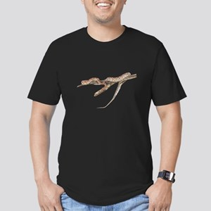 FIN-red-rat-snake-TRANS Men's Fitted T-Shirt (dark