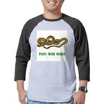 plays-with-snakes.t... Mens Baseball Tee