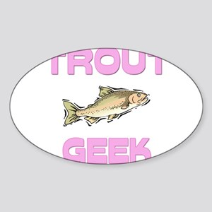 Trout Geek Oval Sticker