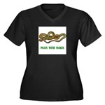plays-with-snakes.t... Women's Plus Size V-Neck Da