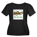 plays-with-snakes.t... Women's Plus Size Scoop Nec