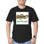 plays-with-snakes.t... Men's Fitted T-Shirt (dark)