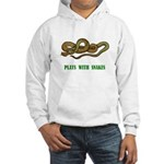 plays-with-snakes.t... Hooded Sweatshirt