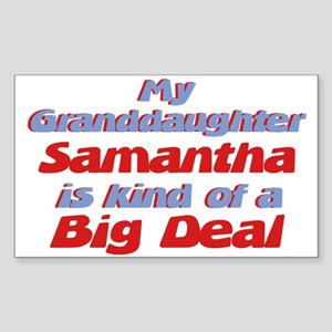 Granddaughter Samantha - Big Rectangle Sticker