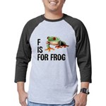 f-is-for-frog-10x10 Mens Baseball Tee