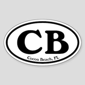 Cocoa Beach CB Euro Oval Sticker Oval Sticker