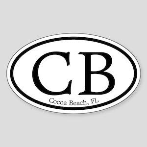 Cocoa Beach CB Euro Oval Oval Sticker
