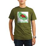plays-with-frogs.ti... Organic Men's T-Shirt (dark