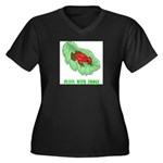 plays-with-frogs.ti... Women's Plus Size V-Neck Da