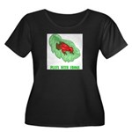 plays-with-frogs.ti... Women's Plus Size Scoop Nec