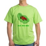 plays-with-frogs.ti... Green T-Shirt