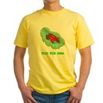 plays-with-frogs.ti... Yellow T-Shirt