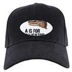 a-is-for-alligator Black Cap with Patch