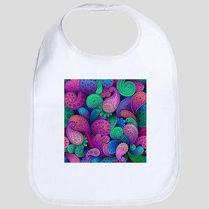 Colorful Paisley Cotton Baby Bib