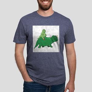 Baby Dinosaur Mens Tri-blend T-Shirt