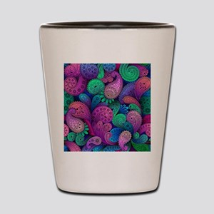 Colorful Paisley Shot Glass