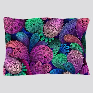 Colorful Paisley Pillow Case