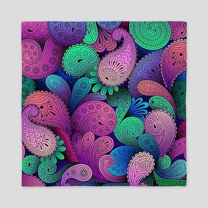 Colorful Paisley Queen Duvet