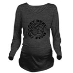 FIN-get-reel-go-fish-black Long Sleeve Maternity T