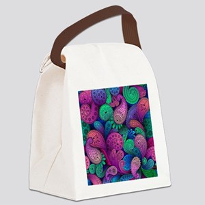 Colorful Paisley Canvas Lunch Bag