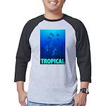 tropical-fish-CROP-text Mens Baseball Tee