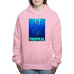 tropical-fish-CROP-text Women's Hooded Sweatshirt
