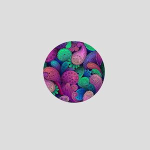 Colorful Paisley Mini Button