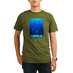 tropical-fish-CROP-text Organic Men's T-Shirt (dar
