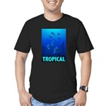 tropical-fish-CROP-text Men's Fitted T-Shirt (dark