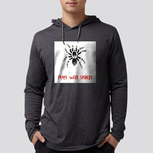 Plays with Spiders Mens Hooded Shirt