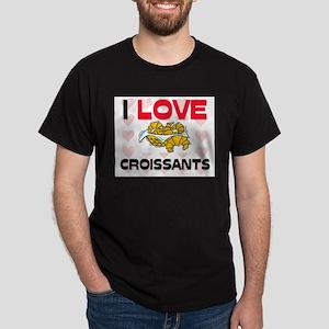 I Love Croissants Dark T-Shirt