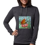 butterfly-6 Womens Hooded Shirt