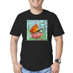 butterfly-6 Men's Fitted T-Shirt (dark)