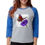 butterfly-4 Womens Baseball Tee