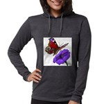 butterfly-4 Womens Hooded Shirt